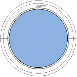 Avans - öppningsbart underkantshängt runt fönster