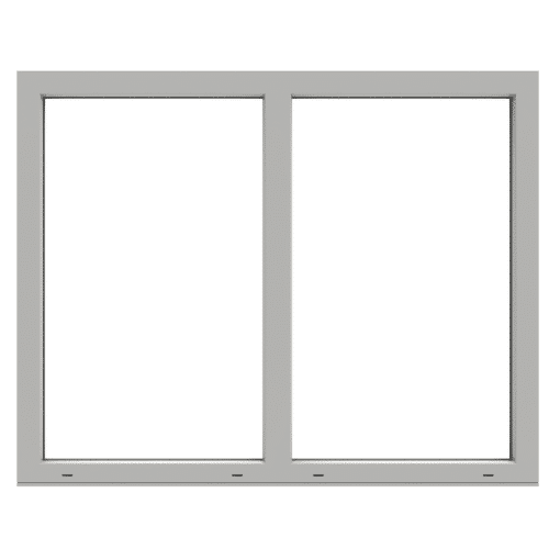 Polaris fast fönster 2-luft PVC