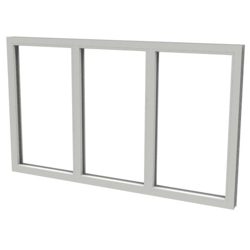 Polaris fast fönster 3-luft PVC
