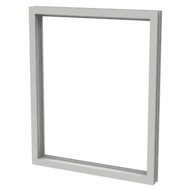 Polaris fast fönster 1-luft PVC