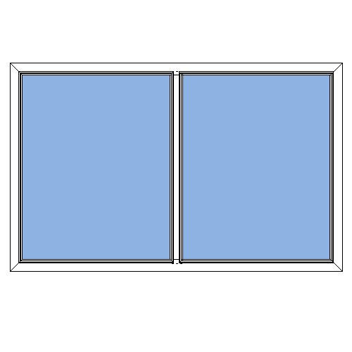 Polaris fast 2-lufts PVC fönster
