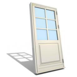 Sekel - utåtgående fönsterdörr med dörrspegel