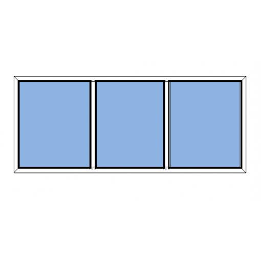 Fast fönster 3-luft Avans