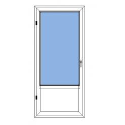 Inåtgående fönsterdörr med bröstning Avans