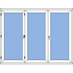 Prince - vikdörr 3-delad med gångdörr
