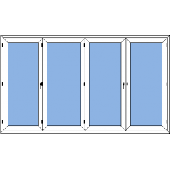 Prince - vikdörr 4-delar utan gångdörr