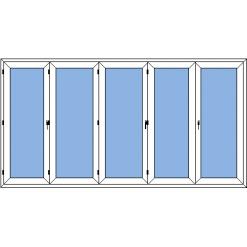 Prince - vikdörr 5-delad utan gångdörr