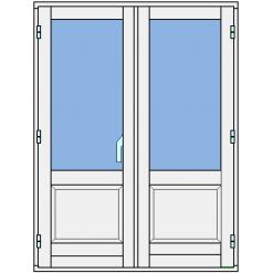Fönsterpardörr med bröstning
