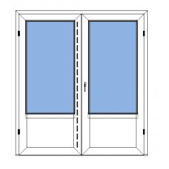 Utåtgående parfönsterdörr med slät bröstning - Polaris